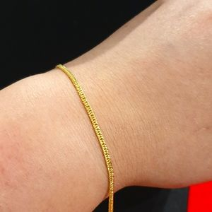 Solid 18ct yellow gold bracelet